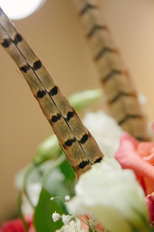 Feather Wedding Centerpiece