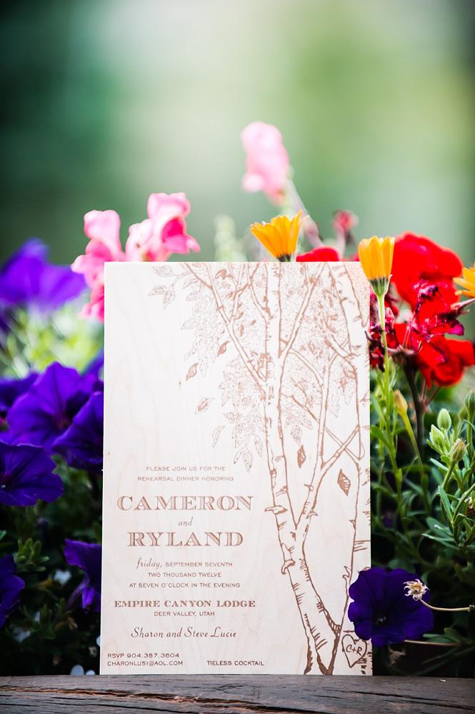 Brown And Cream Nature Theme Wedding Invitation Elizabeth Anne