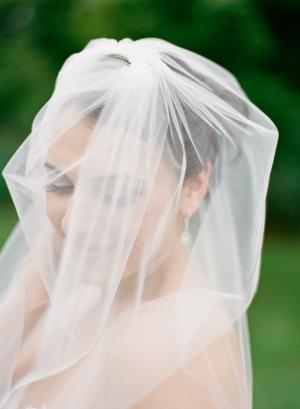 Cathedral Length Sheer Bridal Veil 1