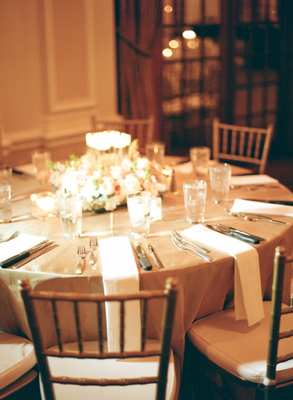 Champagne and Gold Wedding Table