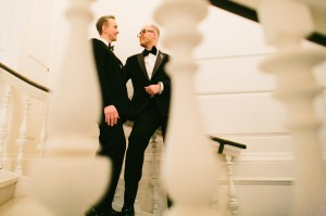 Classic Black and White Groom Tuxes