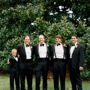 Classic Black and White Tuxes With Suspenders