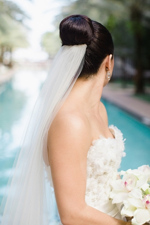 Classic Bun and Bridal Veil