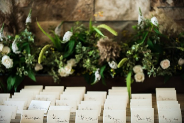 Classic Calligraphed Reception Place Cards
