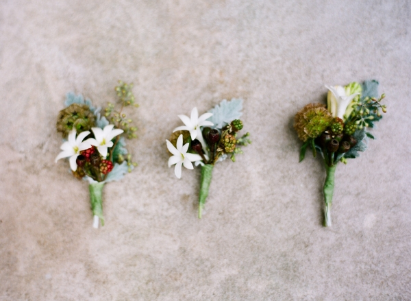 Classic Fall Boutonnieres