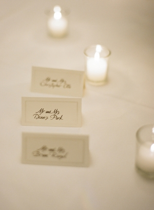 Classic Reception Place Cards