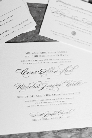 Classic Square Letterpress Wedding Stationery