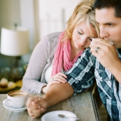 Couple in Coffee Shop Engagement Inspiration From Matt Martin Photography
