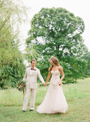 Couple in Meadow Katie Stoops Photography