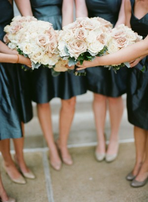 Cream and Blush Rose Bouquets