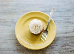 Cupcake on Yellow Saucer