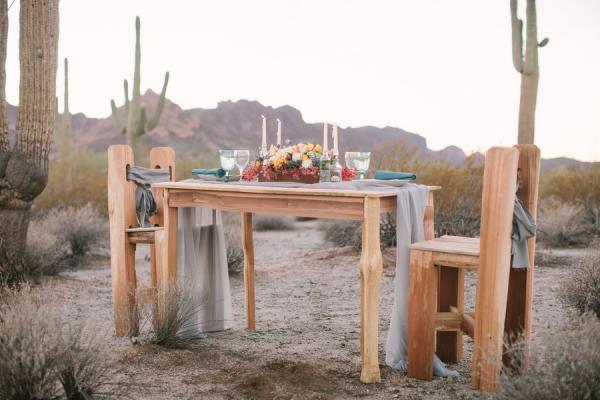 Desert Wedding Inspiration Table Ideas