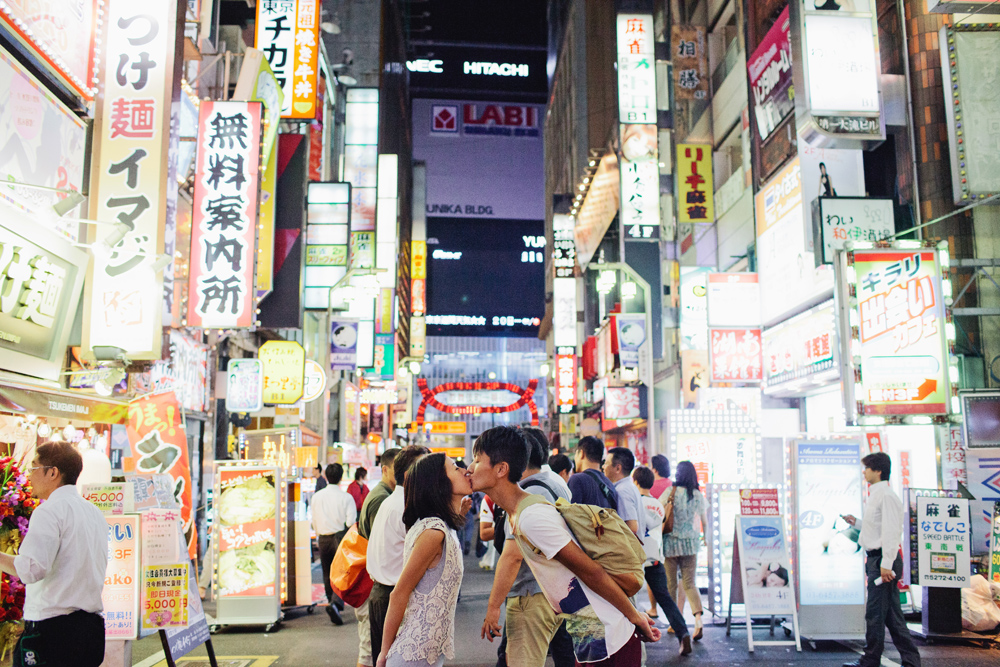 Downtown Tokyo Engagement Shoot Ivan Tan