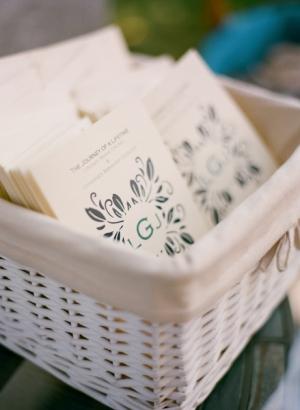 Blue Monogram Wedding Programs