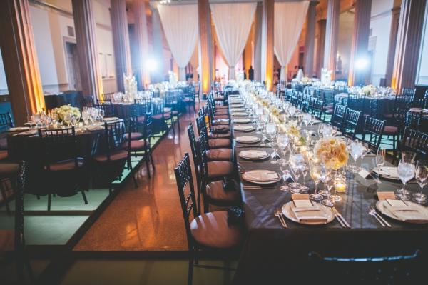 Elegant Blue and Silver Museum Wedding