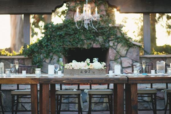Elegant Wood Tabletop Ranch Wedding