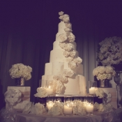Glamorous White Wedding Cake