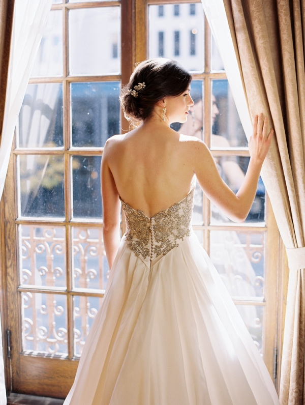 Embroidered Bodice Wedding Gown
