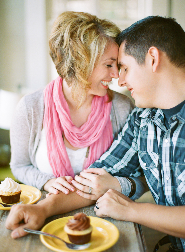Engaged Couple Eating Cupcakes From Matt Martin Photography