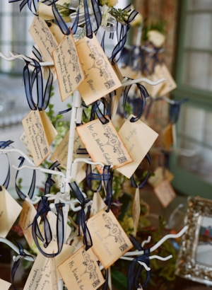 Escort Cards With Ribbons