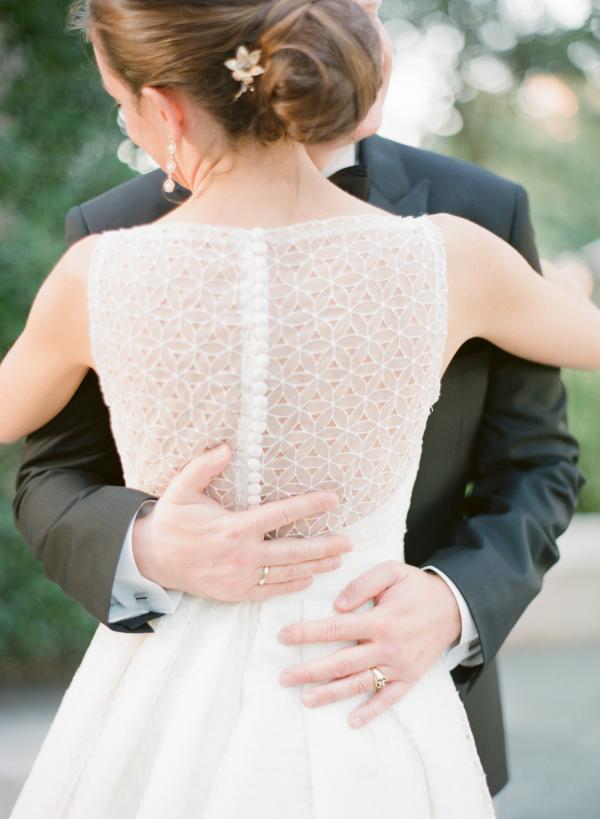 Eyelet Back Wedding Gown Detail