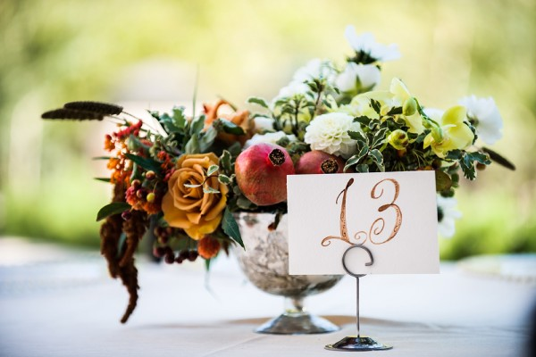 Fall Flower Arrangement With Pomegranates 1