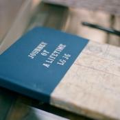 Flight Log Wedding Guest Book