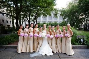Floor Length Gold Bridesmaids Dresses