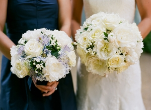 Fluffy White Bouquets
