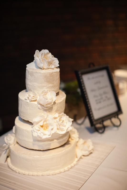 Buttercream Wedding Cake With Flowers