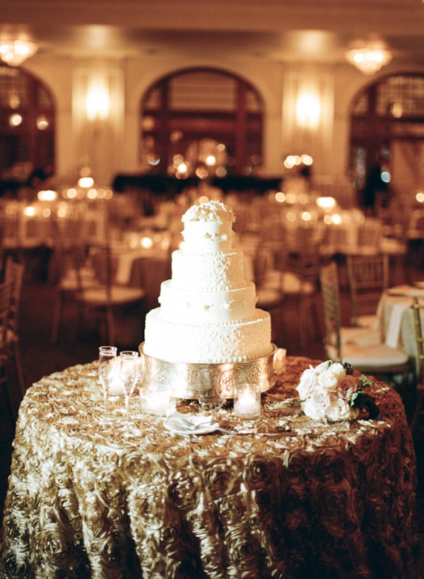 Gilded Gold Cake Table