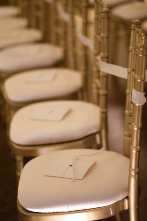 Gold Bamboo Ceremony Chairs