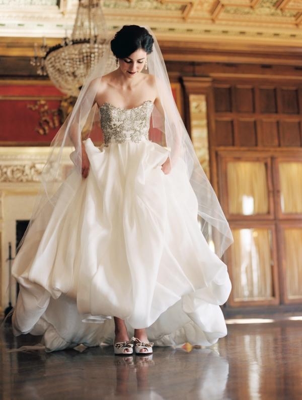 46fcb5f6a886 Gold Bow Bridal Shoes - Elizabeth Anne Designs  The Wedding Blog