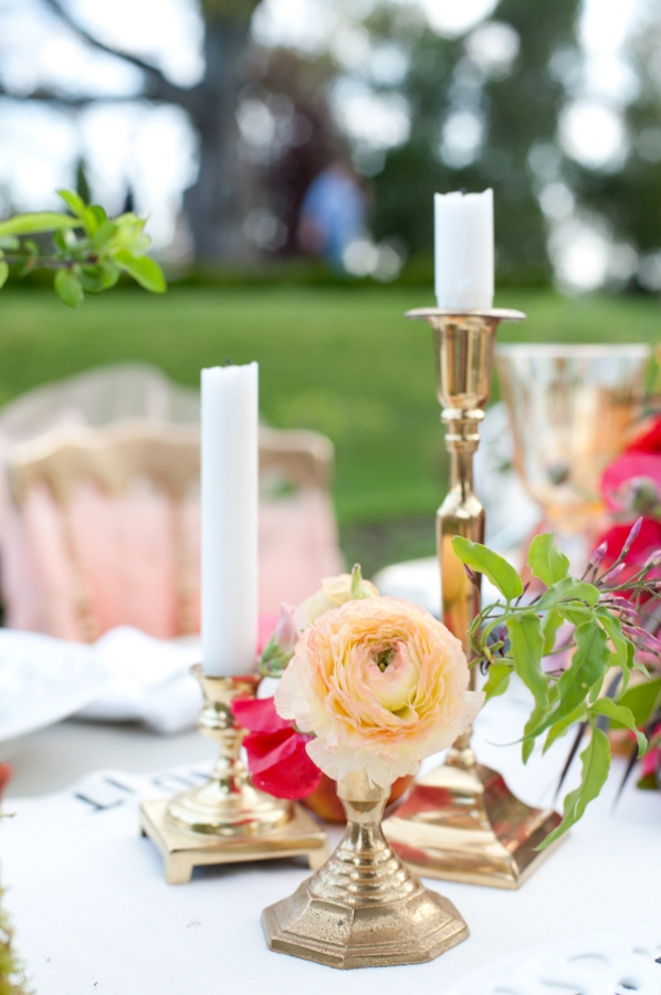 Gold Candle Holder Centerpiece
