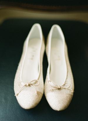 Gold Flat Bridal Shoes
