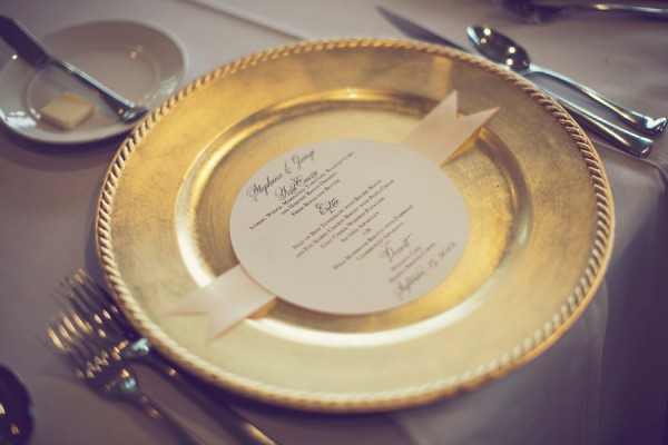 Gold Reception Table Setting