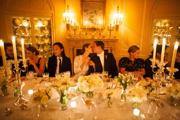 Gold and Cream Reception Dinner Decor