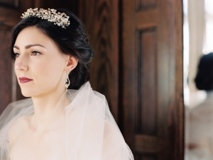 Gold and Crystal Bridal Hairpiece