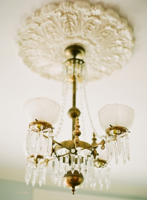 Gold and Crystal Chandelier