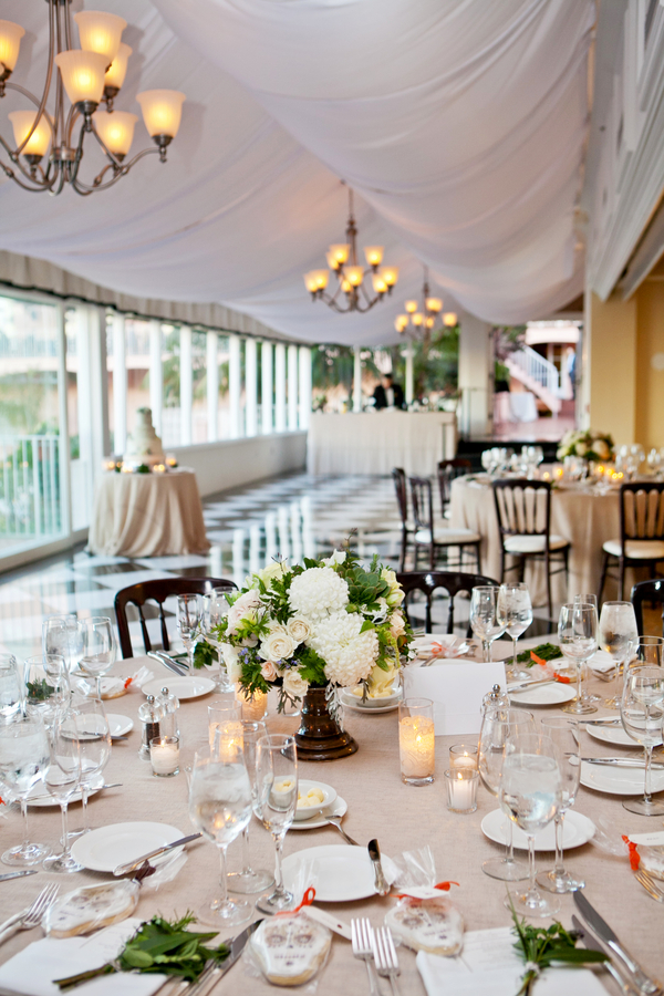 Gray And White Reception Decor