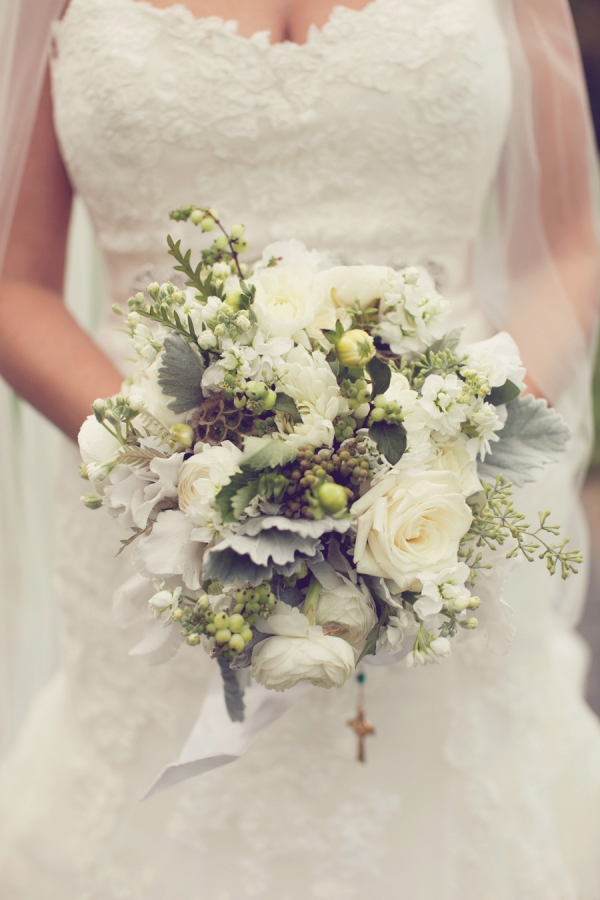 Green and Gray Bridal Bouquet