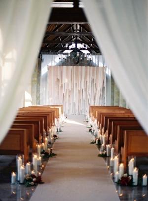 Candle Wedding Ceremony Decor
