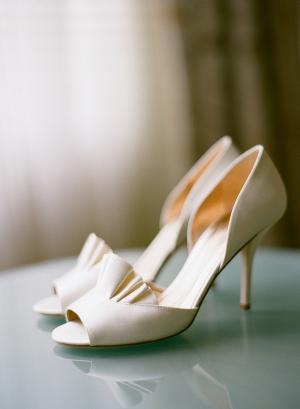 Ivory Peep Toe Bridal Heels