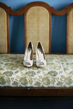 Ivory Peep Toe Shoes