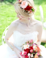 Red and Peach Bouquet