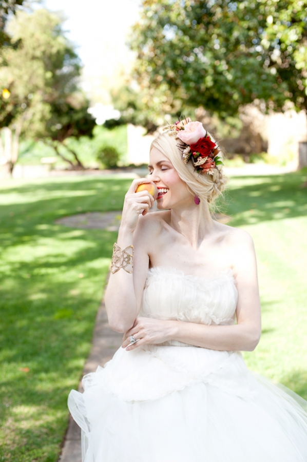 Jewel Tone Floral Bridal Hairpiece