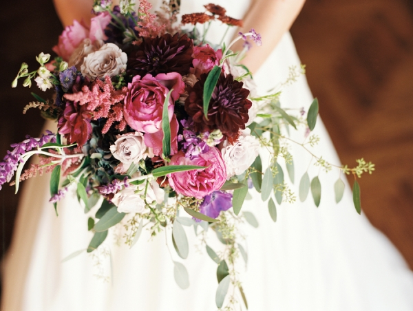 Jewel Tone Rose and Dahlia Bouquet