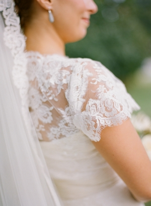 Lace Detailing on Wedding Gown