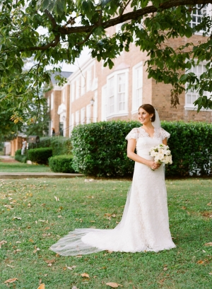 Lace Overlay Wedding Gown