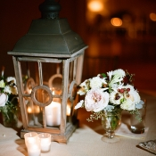 Lantern With Candles Reception Decor